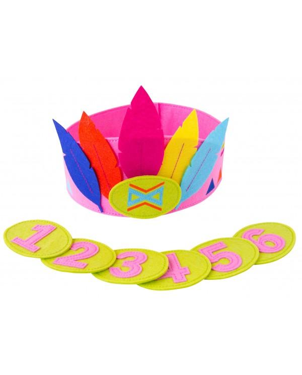 Corona in Feltro Compleanno