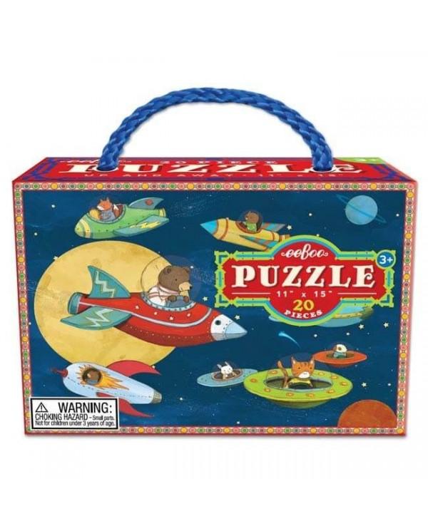 Puzzle animali nello spazio(20 pz)