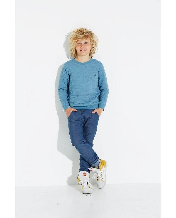 Felpa Bambino Girocollo Azzurra