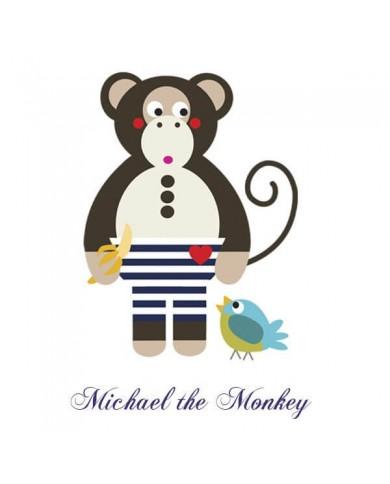 T-shirt scimmietta Micheal...