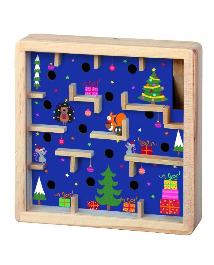 Image of Labirinto In Legno Natalizio Moses Azzurro
