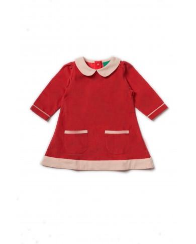Vestito bambina rosso a...