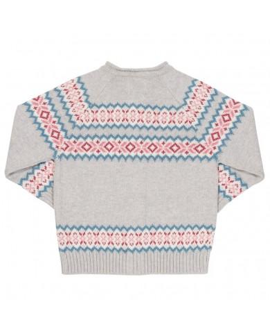 Cardigan tricot con motivo...