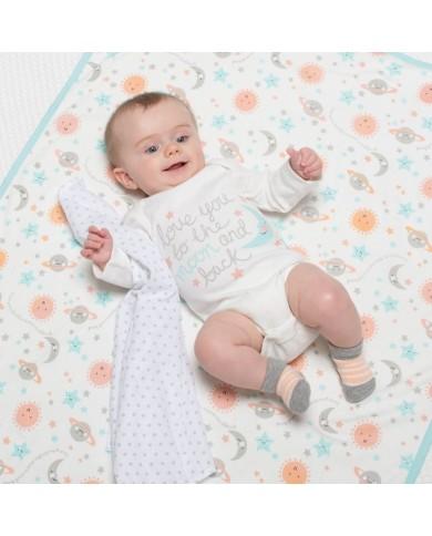 Set 3 mussole neonato...
