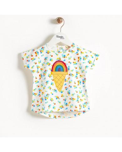 T-shirt arcobaleno cotone...