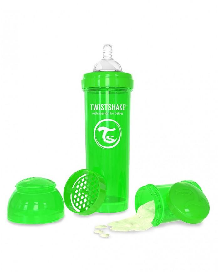 Image of Biberon Anti-colica 330 Ml Verde Twistshake