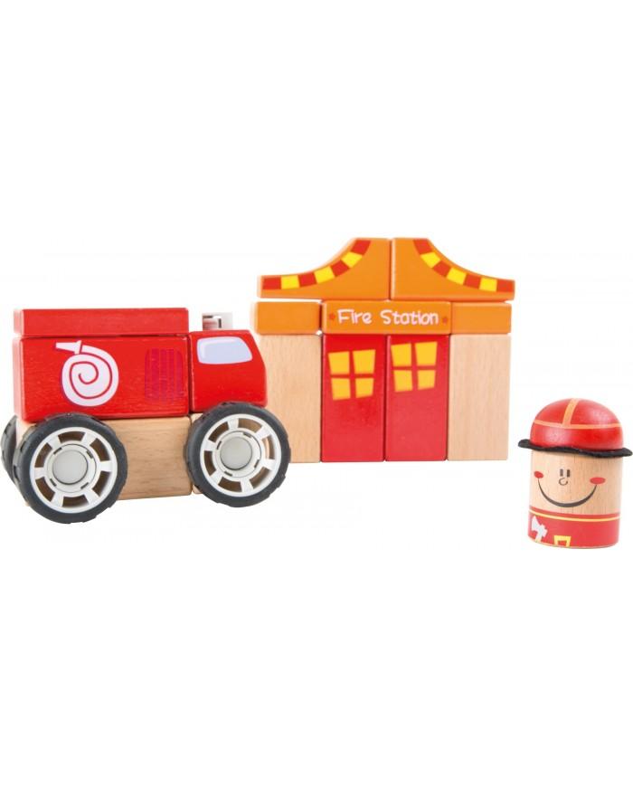 Set Da Costruzione Pompieri Small Foot Toys