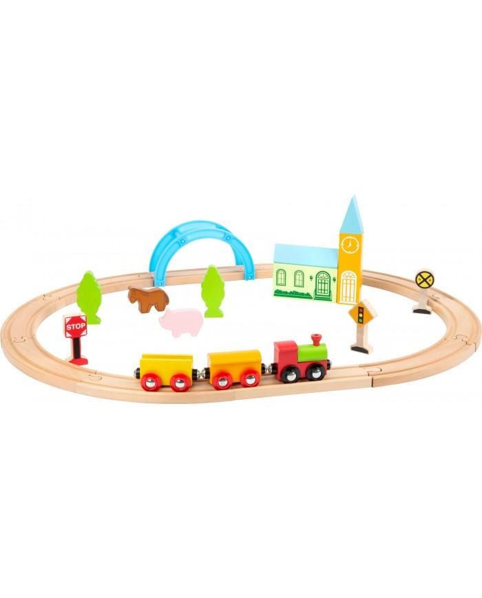 Ferrovia In Legno Città E Campagna