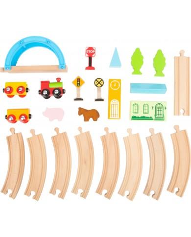 Ferrovia in legno città e...