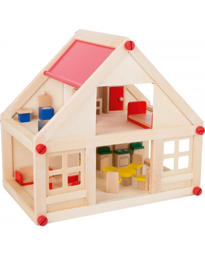 Casa Delle Bambole Con Mobili Small Foot Toys