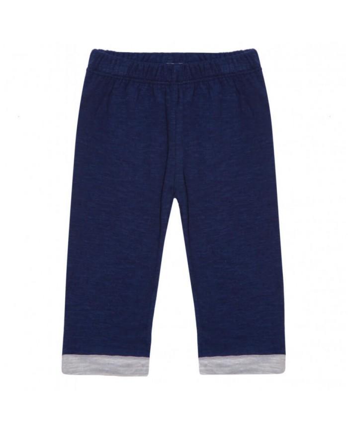 Image of Pantaloni Cotone Neonato Blu Navy Blune Paris 12 Mesi 12 Mesi