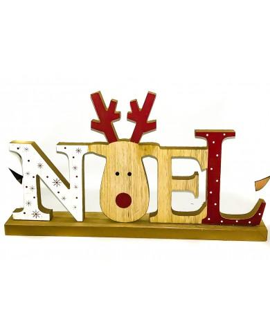 "Scritta ""Noel"" con Renna in..."