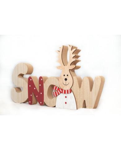 Scritta Snow in legno...