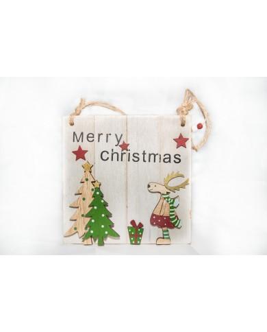 Quadretto natalizio in legno