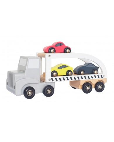 Camion con rimorchio in...