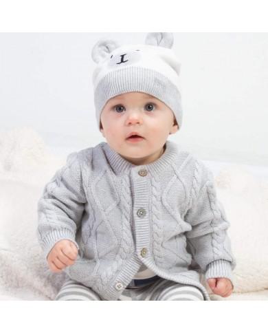 Cardigan neonato grigio a...