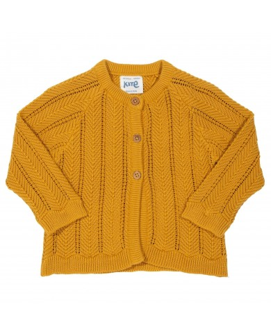 Cardigan chevron senape in...
