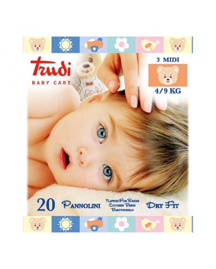 Image of Trudi Baby Care Pannolini Dry Fit Tg. Midi 4/9 Kg