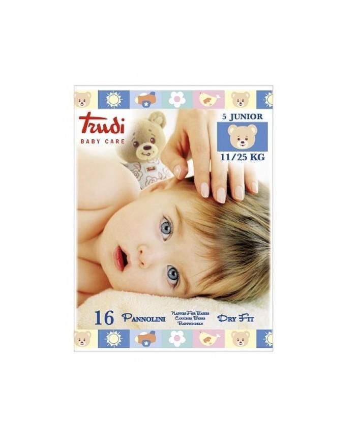 Image of Trudi Baby Care Pannolini Dry Fit Tg. Junior 11/25 Kg