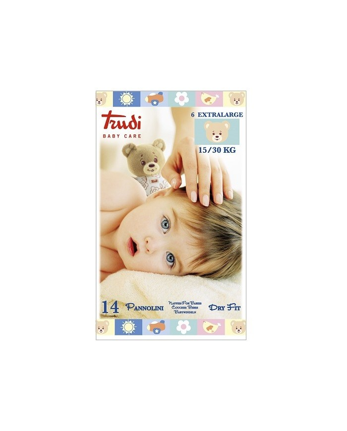 Image of Trudi Baby Care Pannolini Dry Fit Tg. Xl 15/30 Kg