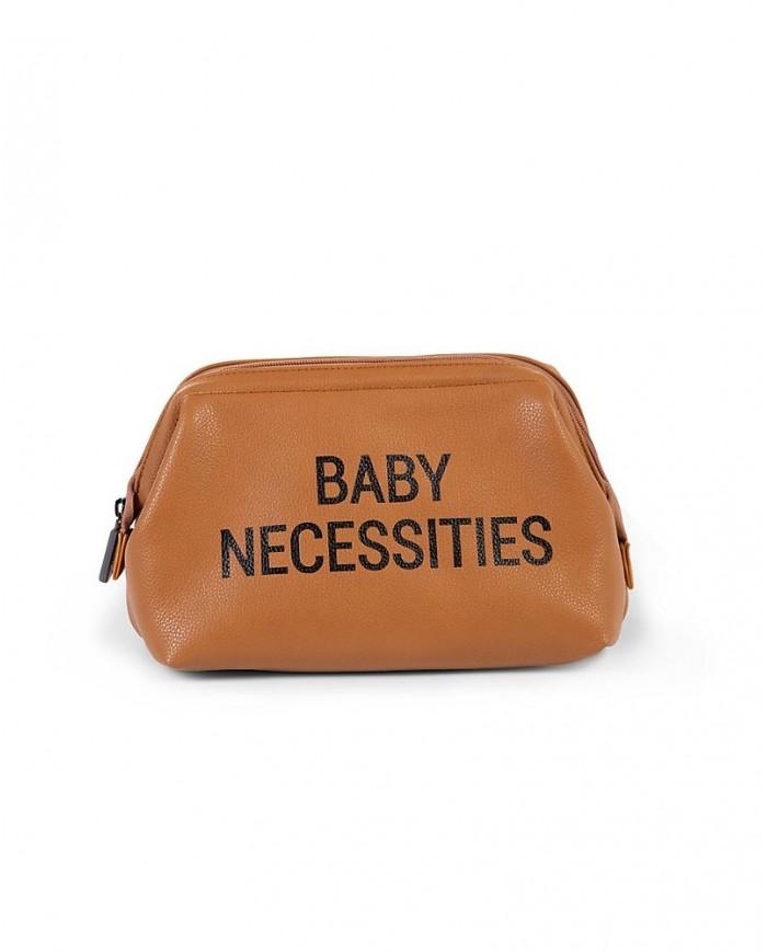 Image of Beauty Case Baby Necessities Vari Colori - Childhome Effetto Pelle Marrone