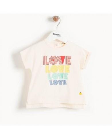 "T-shirt  ""Love"" cotone..."
