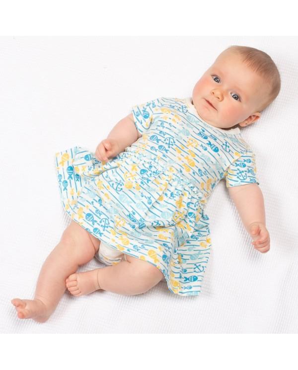 Kitikate ideale per rilassarsi a maniche corte per bambini Tutine estive per bambini e bambine per bambini in cotone organico