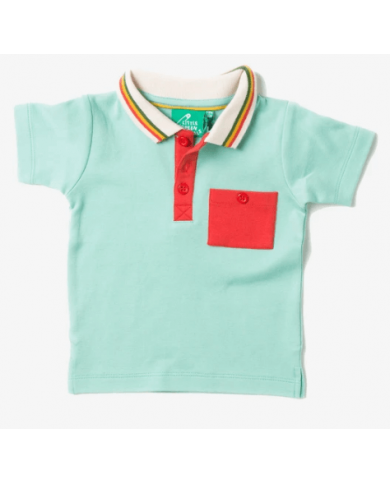 Polo Turchese Little Green...