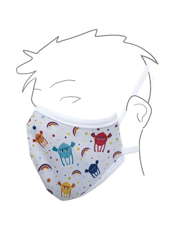 Image of Mascherina Antibatterica G-mask Color Bambino In Grafene Tenhortho