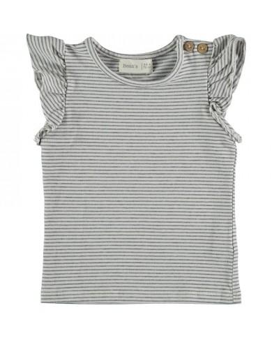 T-shirt Bambina righe con...