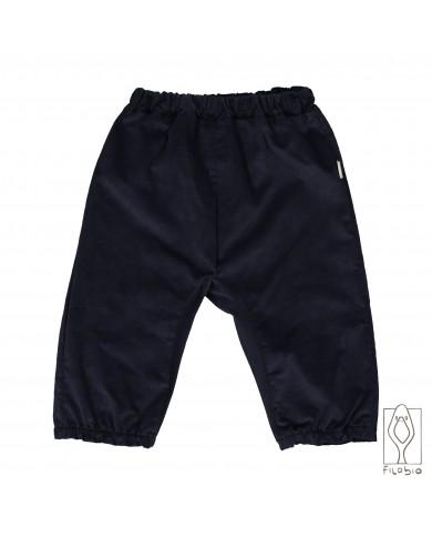 Pantalone microvelluto blu...