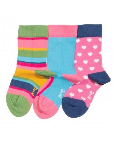 Set 3 calze bambina cotone...