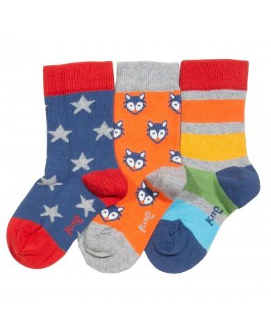 Set 3 calze bambino cotone...