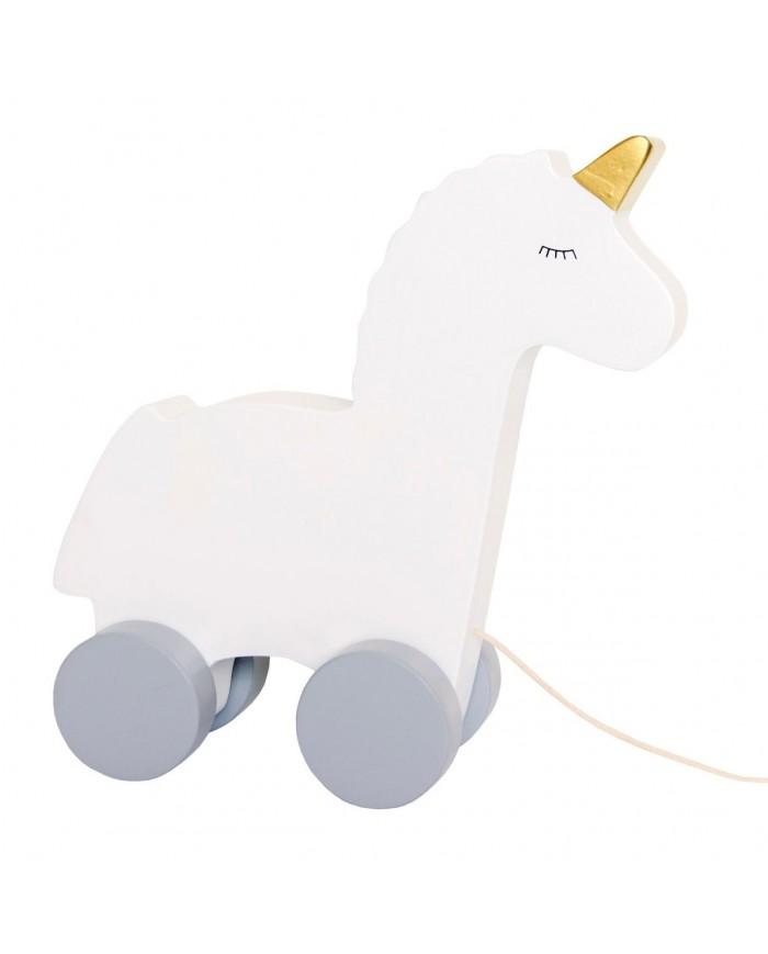 Unicorno Da Tirare In Legno Jabadabado