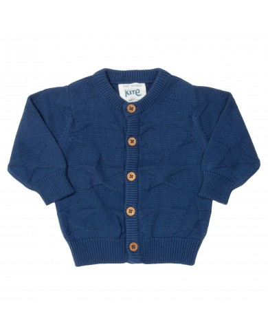 Cardigan tricot blu navy...