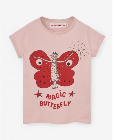 T-shirt Bambina Farfalla...