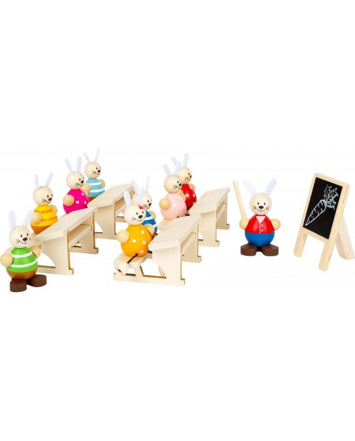 Set Da Gioco Scuola Dei Conigli Small Foot Toys