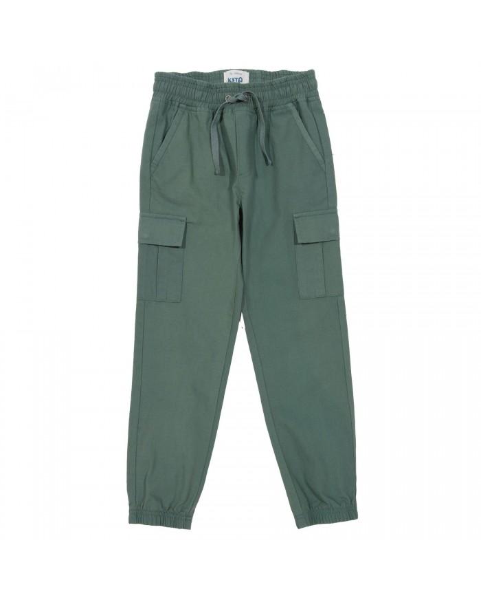 Pantaloni Cargo Verde Militare Cotone Organico Kite Clothing 4 Anni