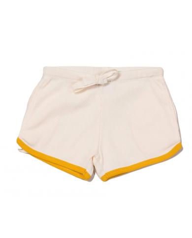 Shorts crema cotone...