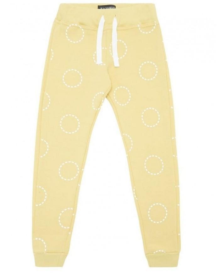 Image of Pantaloni In Felpa Cerchi - Gialli -peachyboo 6-12 Mesi