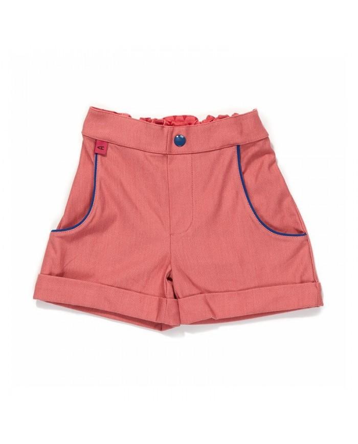 Shorts Bambina Salmone E Blu - Albababy 3 Anni