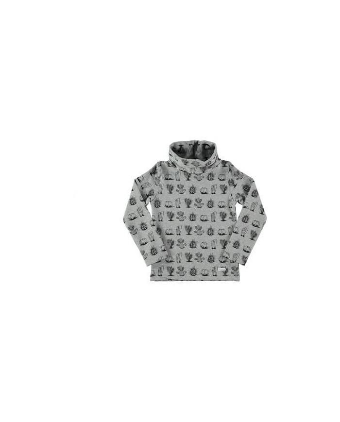 Felpa cotone con stampa cactus